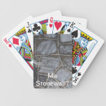 Stone Blank Poker Face? Card Deck