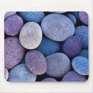 Stone blue rocks mouse pad