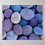 Stone blue rocks print