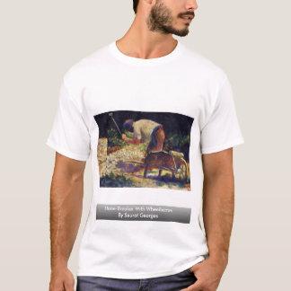 Stone-Breaker With Wheelbarrow By Seurat Georges T-Shirt
