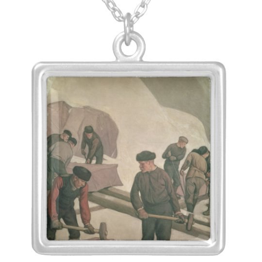Stone Breakers, 1903 Silver Plated Necklace