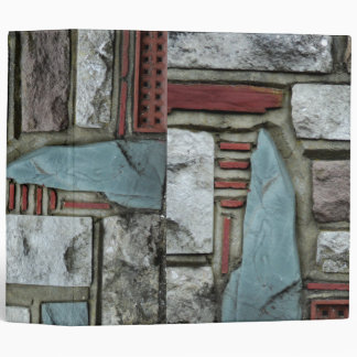 Stone Brick Print Binder