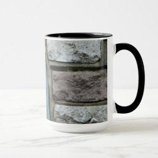 Stone Brick Print Ringer Mug