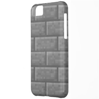 Stone Brick Voxel Cover For iPhone 5C