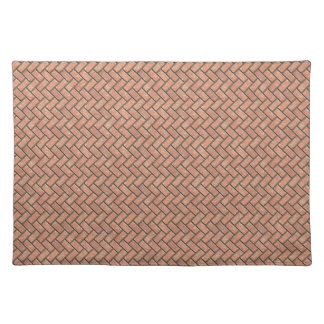 Stone bricks pattern (color desert rose) placemat