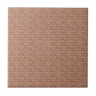 Stone bricks pattern (color desert rose) small square tile