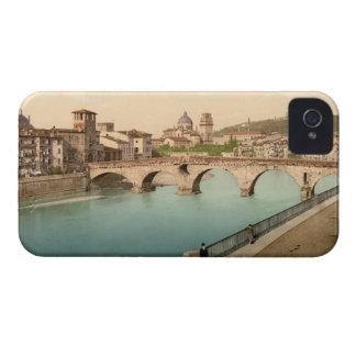 Stone Bridge and San Giorgio, Verona, Italy iPhone 4 Cases