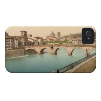 Stone Bridge and San Giorgio, Verona, Italy iPhone 4 Case-Mate Case