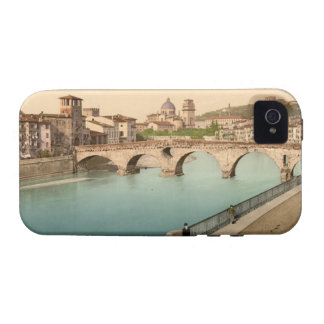 Stone Bridge and San Giorgio, Verona, Italy Case-Mate iPhone 4 Covers