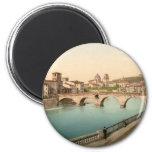 Stone Bridge and San Giorgio, Verona, Italy Magnets