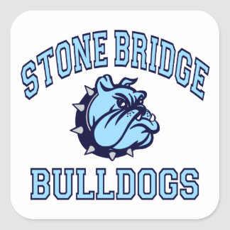 Stone Bridge Bulldogs Square Sticker