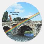 Stone Bridge Crossing River  Kildare Ireland Round Sticker