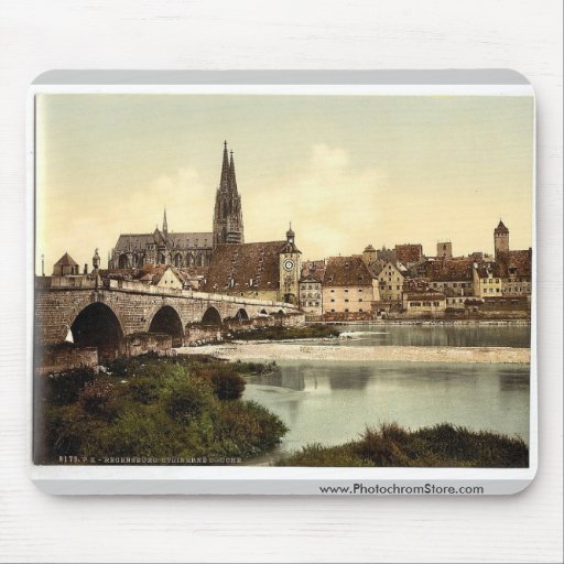 Stone Bridge (i.e. Steinerne Brucke) and cathedral Mousepad