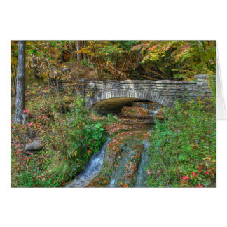 Stone Bridge in Autumn Card