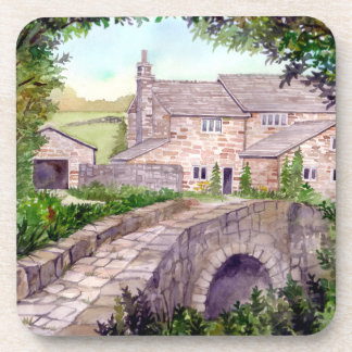 Stone Bridge Watercolor Painting Coaster