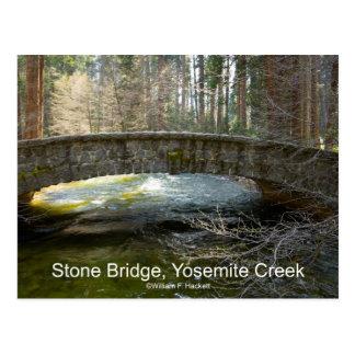 Stone Bridge Yosemite Creek April Torrent Products Postcard
