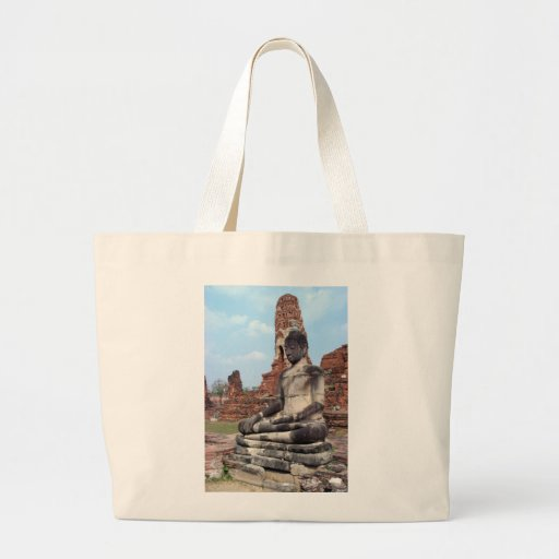 Stone Buddha Canvas Bag