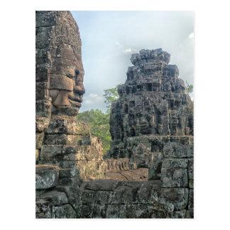 Stone Buddha Face at Bayon Temple, Angkor Postcard