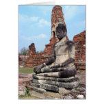 Stone Buddha Greeting Cards