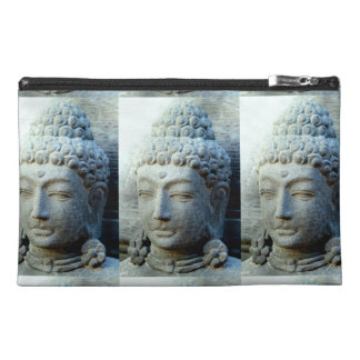 stone buddha head design travel accessory bag