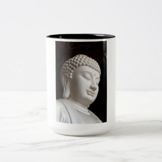 Stone Buddha Head Two-Tone Coffee Mug