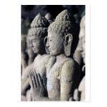 Stone Buddha statues Postcard