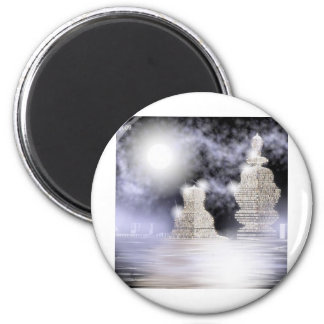 stone buildings 2 inch round magnet