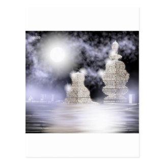 stone buildings postcard