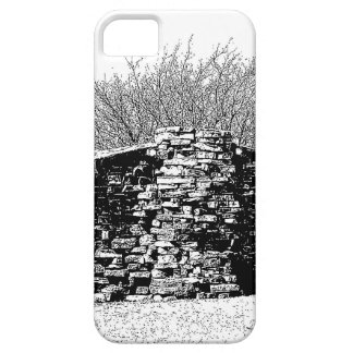 Stone Cabin in Black and White iPhone 5 Cover