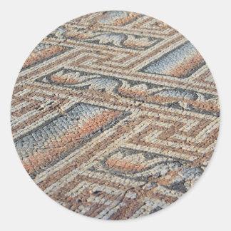 Stone Carpet Classic Round Sticker