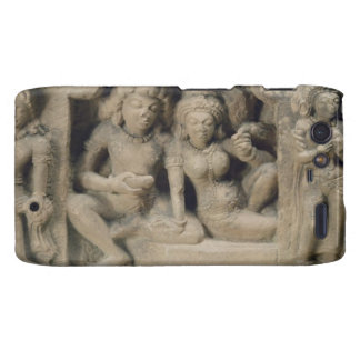 Stone carving of lovers enjoying a dance performan droid RAZR cases