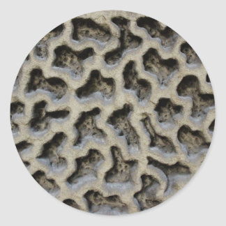 Stone Carving Pattern Classic Round Sticker