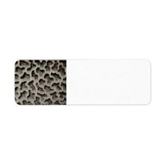 Stone Carving Pattern Return Address Label
