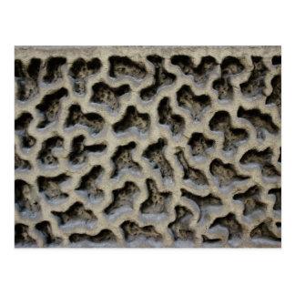 Stone Carving Pattern Postcard
