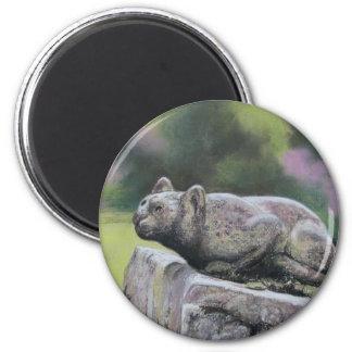 Stone Cat 2 Inch Round Magnet