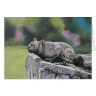 Stone Cat Greeting Card