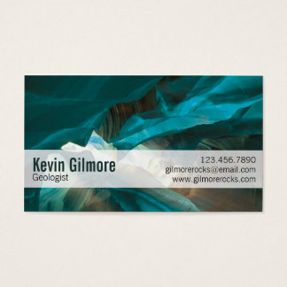 Stone Cave Walls - Blue Business Card