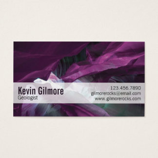 Stone Cave Walls - Purple Business Card