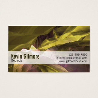 Stone Cave Walls - Yellow Business Card
