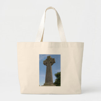 Stone celtic cross canvas bag
