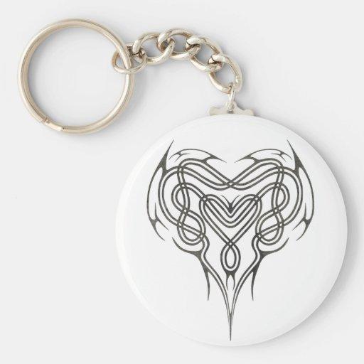 Stone Celtic Heart Knot Key Chain