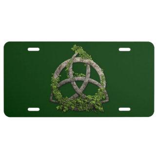 Stone Celtic Trinity Knot License Plate