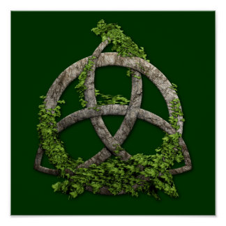 Stone Celtic Trinity Knot Poster