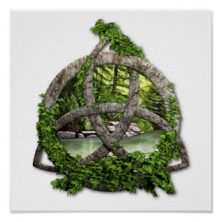 Stone Celtic Trinity Knot Poster
