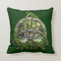 Stone Celtic Trinity Knot Throw Pillow