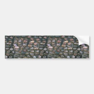 Stone church wall car bumper sticker