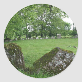 Stone Circles Grange Ireland Round Stickers
