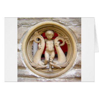 Stone Citizens granite putto and dolphins Card