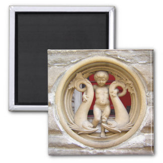 Stone Citizens granite putto and dolphins Magnet