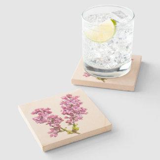 Stone Coaster - Lilac Blossoms